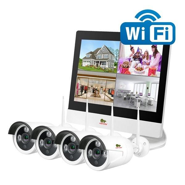 Wireless FullHD Kit 4x2MP LCD