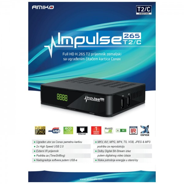 Amiko IMPULSE T2/C H265