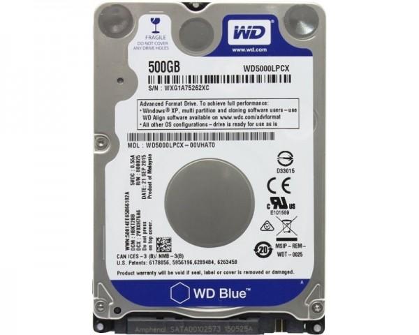 WD 500GB 2.5'' SATA III 16MB 5.400rpm WD5000LPCX Blue