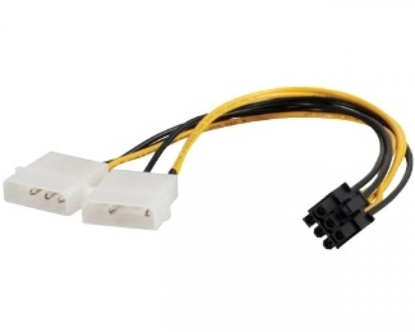 E-GREEN Naponski adapter za PCI-E VGA (6-pin) -2x Molex