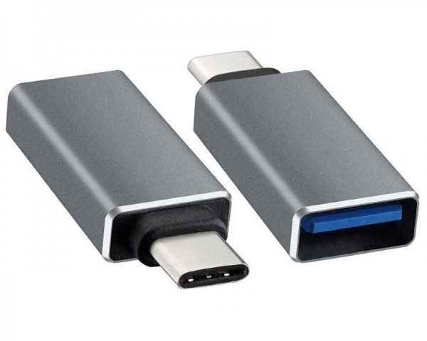 E-GREEN Adapter USB tip C - USB 3.0 MF crni