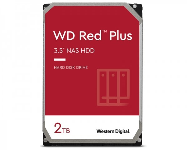 WD 2TB 3.5'' SATA III 128MB WD20EFZX Red Plus