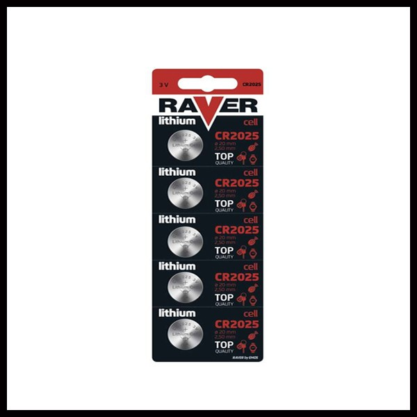 RAVER CR2025/5 baterije button