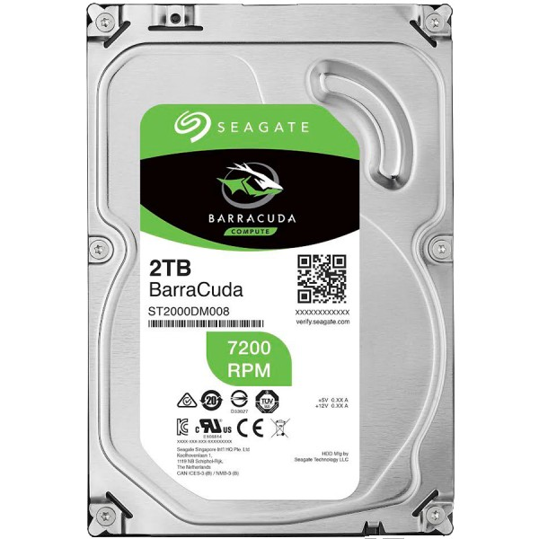 SEAGATE HDD Desktop Barracuda Guardian (3.5''2TBSATA 6Gbs7200rpm) ( ST2000DM008 )