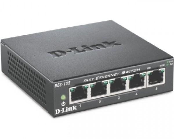 D-LINK DES-105 5port switch