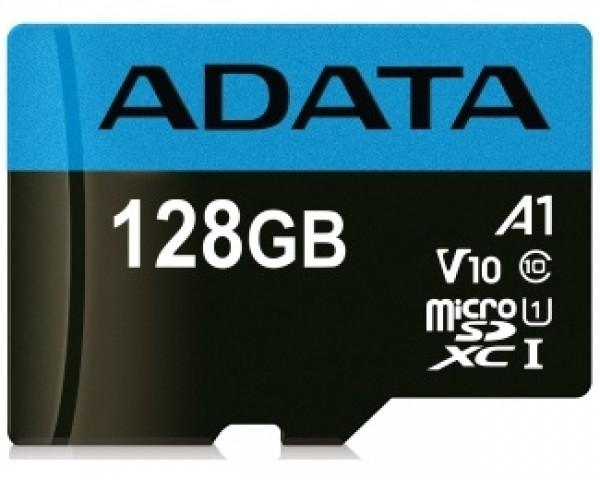 A-DATA UHS-I MicroSDXC 128GB class 10 + adapter AUSDX128GUICL10A1-RA1