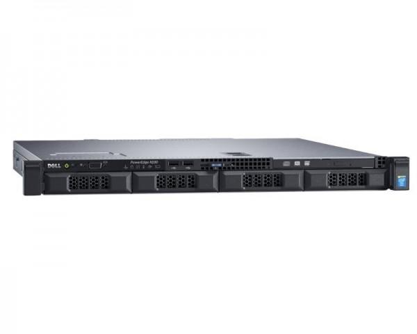 DELL PowerEdge R230 Xeon E3-1220 v6 4C 1x8GB H330 1x600GB SAS DVDRW 250W 3yr NBD + Sine za Rack