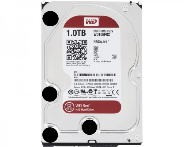 WD 1TB 3.5'' SATA III 64MB IntelliPower WD10EFRX Red
