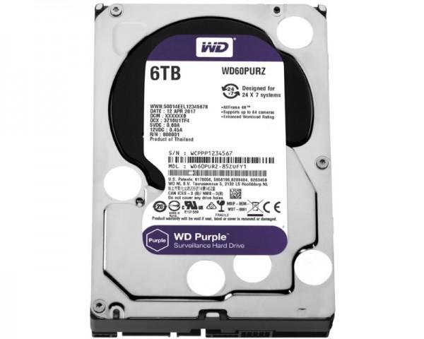 WD 6TB 3.5'' SATA III 64MB IntelliPower WD60PURZ Purple