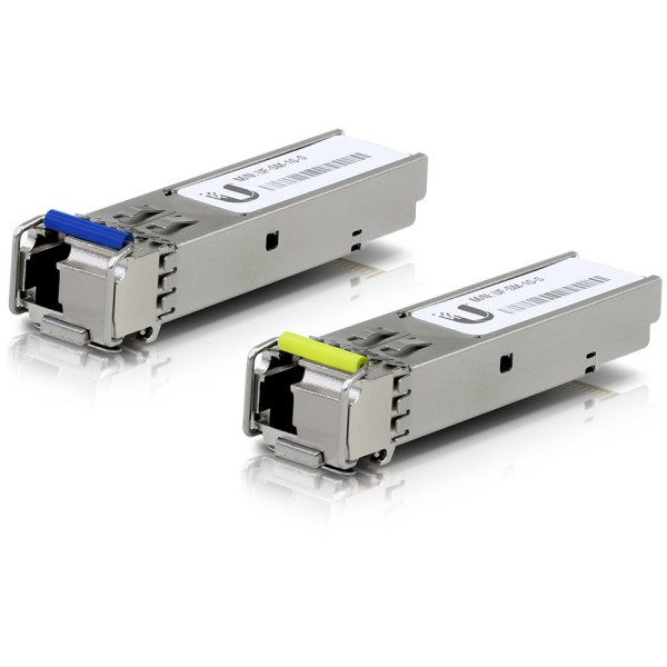 Ubiquiti U Fiber Single-Mode - SFP (mini-GBIC) transceiver module - Gigabit Ethernet - 1000Base-BiDi (pack of 2) ( UF-SM-1G-S )