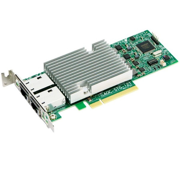 Supermicro AOC-STG-i2T (2xPort 10GbE, PCIe2.1, RJ45, Adapter LP) ( AOC-STG-I2T )