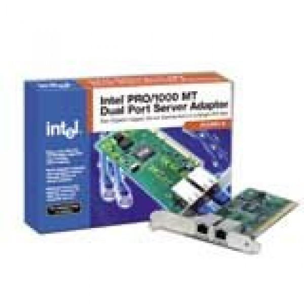 Network Card INTEL PRO1000 MT Dual Port Server Adapter (PCI-X, 101001000Base-T, 1000Mbps, Gigabit Ethernet) ( PWLA8492MTBLK5 )
