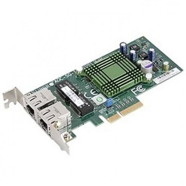 Supermicro AOC-SGP-I2 LAN 2-port RJ45 Gigabit Ethernet controller, PCI-e x4, Intel i350AM2 ( AOC-SGP-I2 )