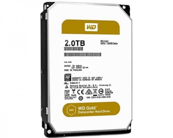 WD 2TB 3.5'' SATA III 128MB 7.200 WD2005FBYZ Gold