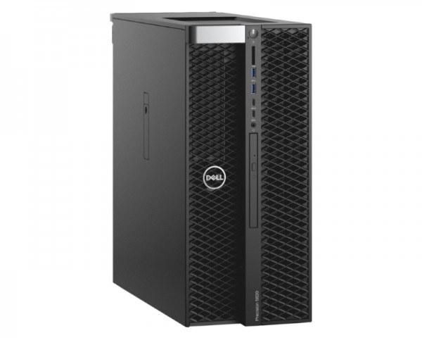 DELL Precision T5820 Xeon W-2223 4C 1x8GB 1TB DVDRW Win10Pro 3yr ProSupport