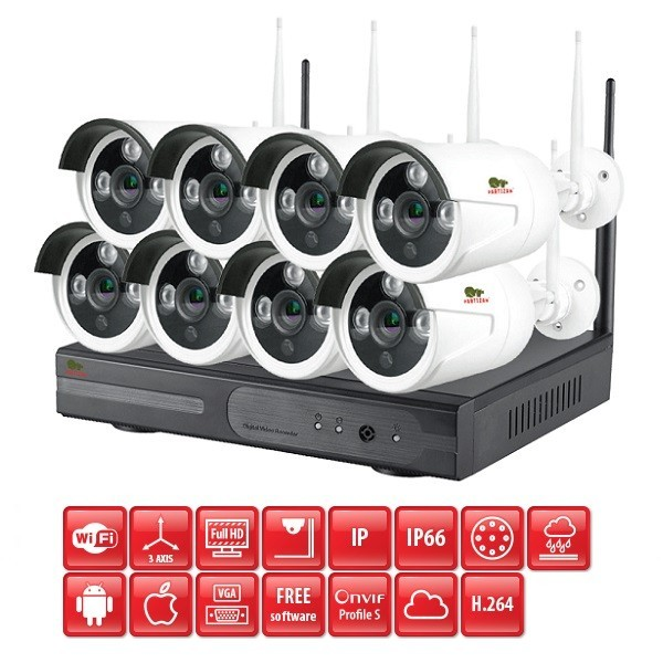 Wireless FullHD Kit 8x2MP