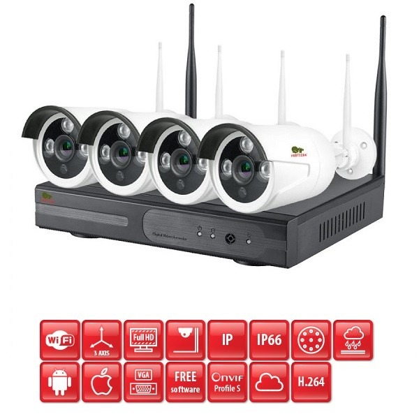 Wireless FullHD Kit 4x2MP