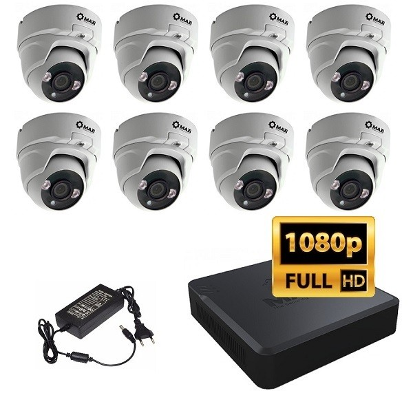 FullHD IP set sa 8 kamera MAZi